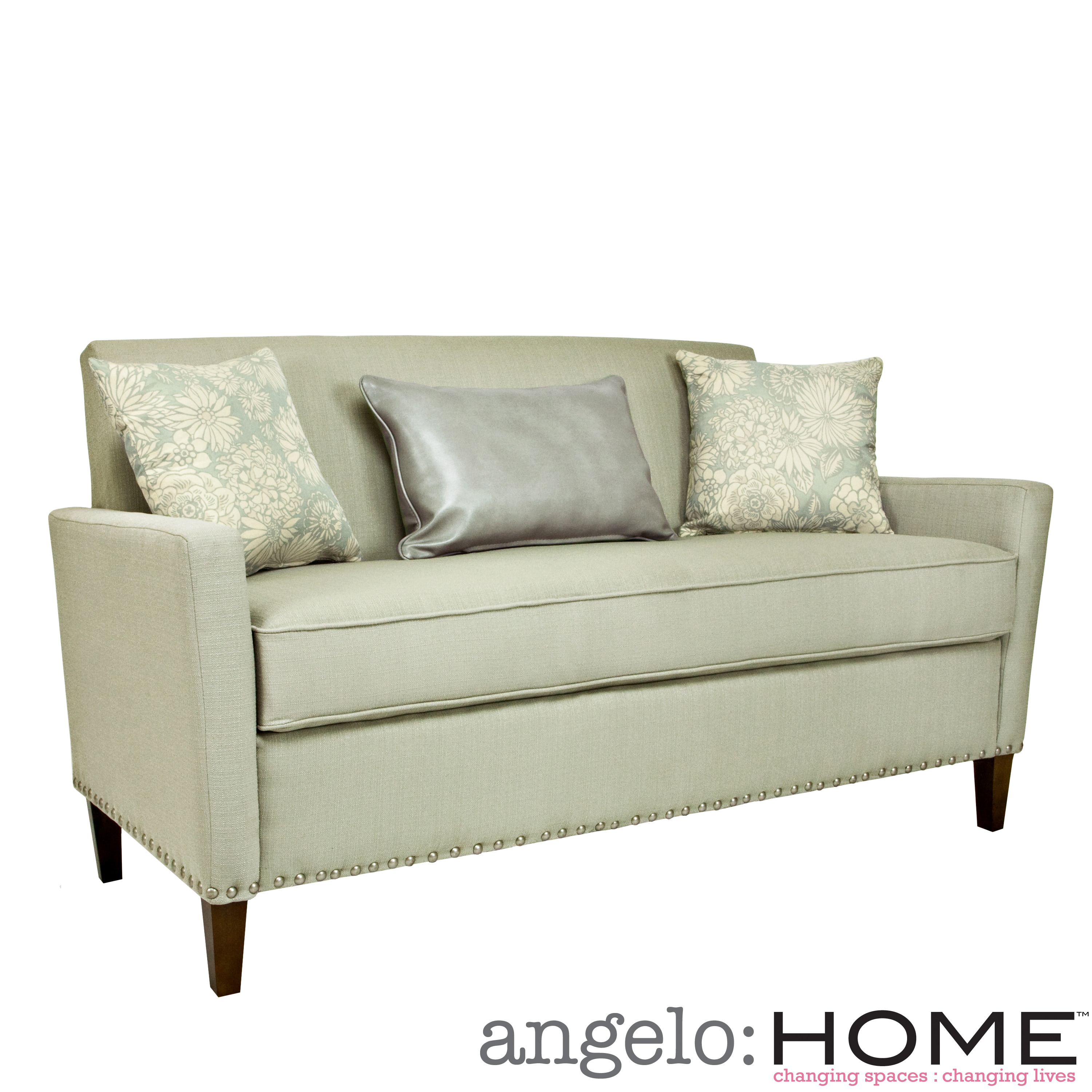 Angelohome angelo:HOME Sutton Washed Clay Earth Gray Sofa at Sears.com