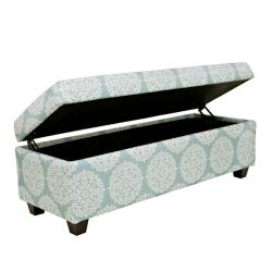angelo:HOME Kent Filigree Sky Blue Wall Hugger Trunk Storage Ottoman