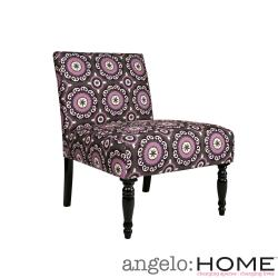 angelo:HOME Bradstreet Modern Pinwheel Dark Gray Armless Chair