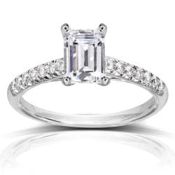 14k White Gold 1 1/6ct TDW Diamond Engagement Ring (H-I, SI1-SI2)