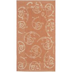 Poolside Terracotta/ Natural Polypropylene Indoor/ Outdoor Rug (2' x 3'7)