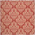 Poolside Red/ Cream Indoor/ Outdoor Rug (6'7 Square)