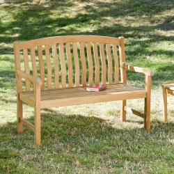 Cade 4-foot Light Brown Bench