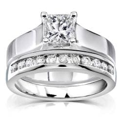 14k White Gold 1ct TDW Diamond Bridal Ring Set (H-I, SI1-SI2)