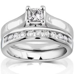 14k White Gold 5/8ct TDW Diamond Bridal Ring Set (H-I, I1-I2)