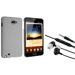 Grey Matte Snap-on Case/ Headset for Samsung Galaxy Note N7000