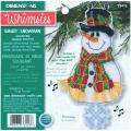 "Whimsies Smiley Snowman Counted Cross Stitch Kit-7-1/4"" Long"