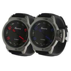 Geneva Platinum Men's Silicone Watch
