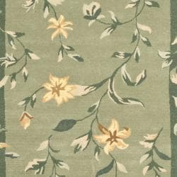 Safavieh Handmade Botanical Gardens Green Wool Rug (8' x 10')