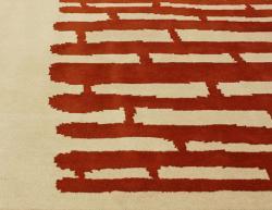 nuLOOM Handmade Beige Fence Wool Rug (7'6 x 9'6)