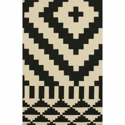 nuLOOM Handmade Nomad Dark Brown Wool Rug (7'6 x 9'6)