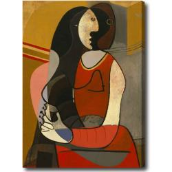 Pablo Picasso 'Seated Woman' Oversized Oil on Canvas Art