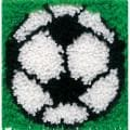 "Wonderart Latch Hook Kit 8""X8""-Soccer"