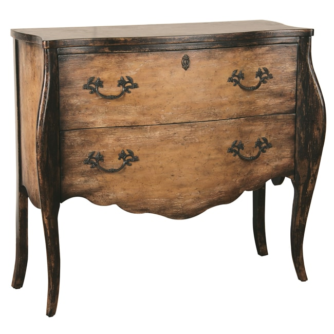 Distressed Nutmeg Brown Accent Chest