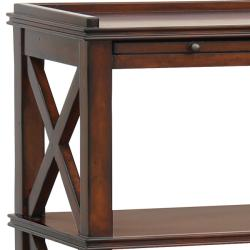 Distressed Vintage Brown Accent Table