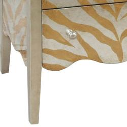 Hand-painted Distressed Gold/ Silver Accent Chest