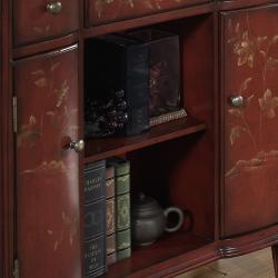 Hand-painted Distressed Burnt Red Accent Chest