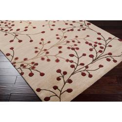 Hand-tufted Tan Castara Wool Rug (9' x 12')