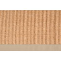 Woven Beige Hillsborough West Natural Fiber Sisal Rug (6' x 9')