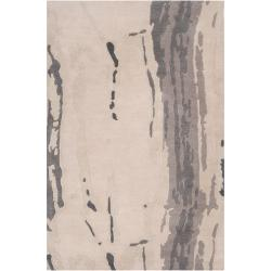 Candice Olson Hand-tufted White Cane Abstract Plush Wool Rug (9' x 13')