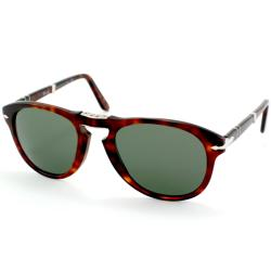 Persol Men&#39;s PO 714 Steve Mcqueen 24/31 Havana Foldable Plastic Sunglasses