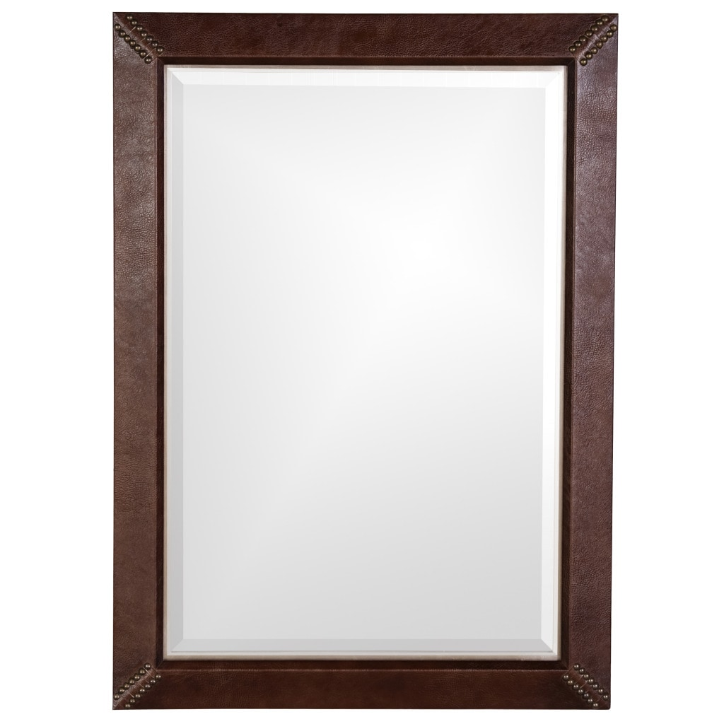 Quest Faux Leather Mirror