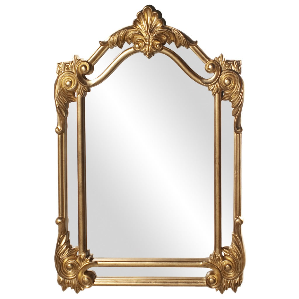 Cortland Antique Gold Leaf Mirror