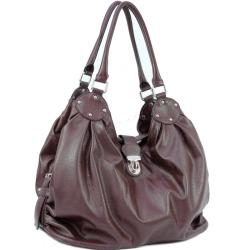 Dasein Large Tote with Buckle Accents