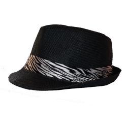 Women's Zebra Print Fedora Hat