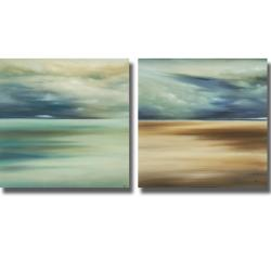 KC Haxton 'Scape 108 and 109' 2-piece Canvas Art Set