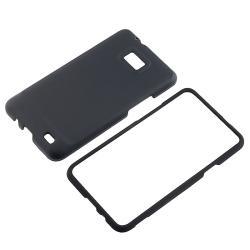 Snap-on Rubber Coated Case for Samsung Galaxy S II AT&T i777 (Set of 2)