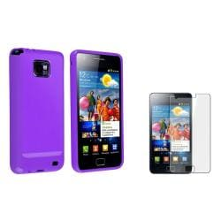 Purple TPU Case/ Screen Protector for Samsung Galaxy S II i9100
