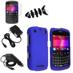 Blue Case/ Screen Protector/ Chargers/ Wrap for Blackberry Curve 9350
