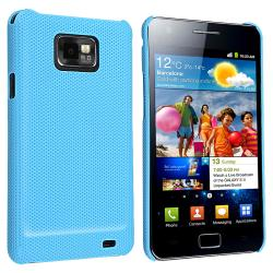 Blue Snap-on Rubber Coated Case for Samsung Galaxy S II i9100