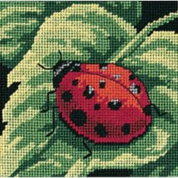 "Ladybug, Ladybug... Mini Needlepoint Kit-5""X5"" Stitched In Thread"