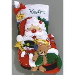 Toys From Santa Stocking Felt Applique Kit-16-1/2