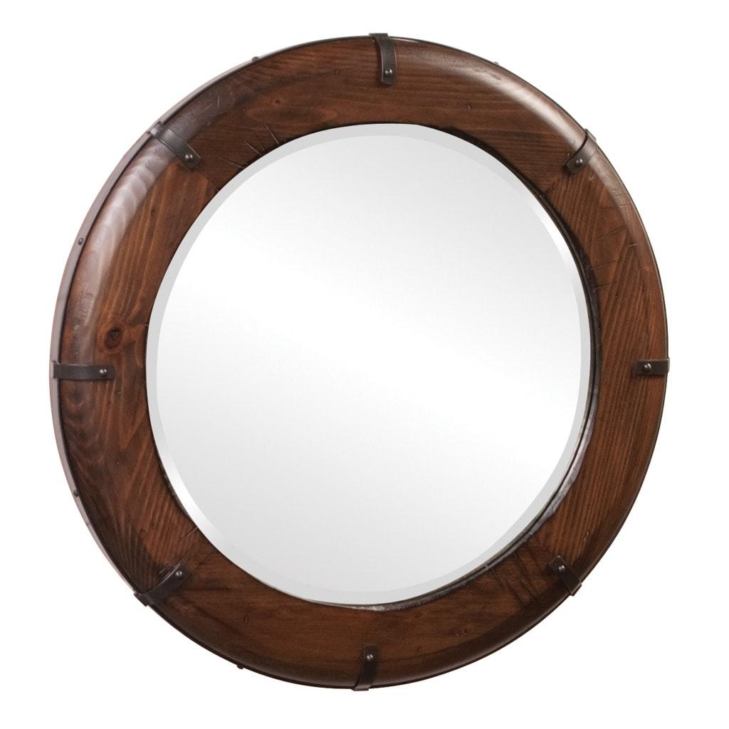 Lucas Walnut Brown Mirror