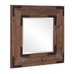 Caldwell Square Natural Wood Mirror