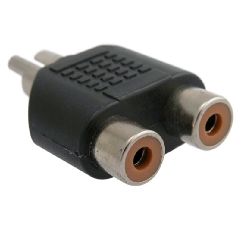 BasAcc RCA Male to 2 Female Adapter