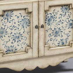 Hand-painted Distressed Cream Accent Chest