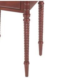Antique Cherry Finish Square Accent Table