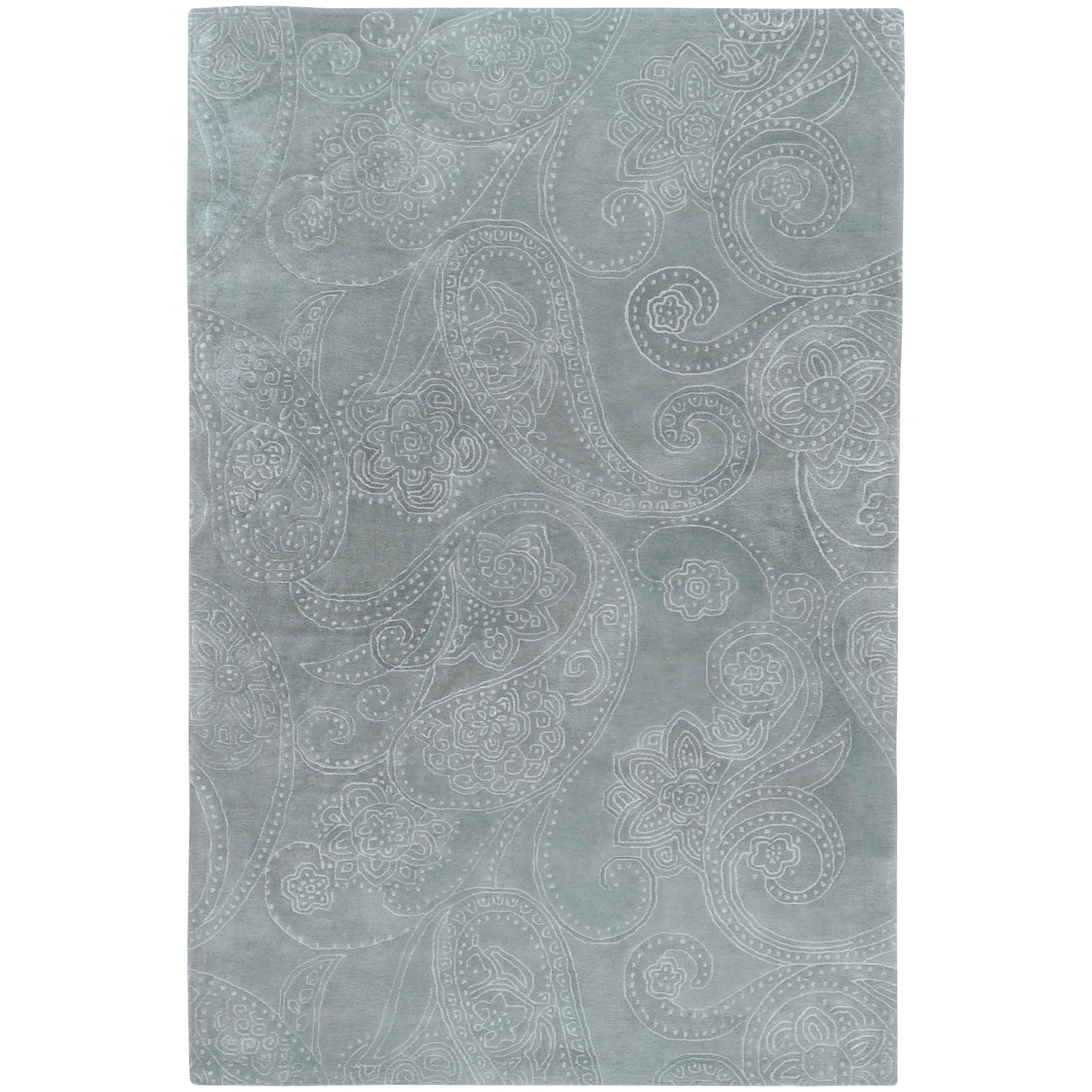 Candice Olson Hand-tufted Blue Eau Claire New Zealand Wool Rug (2' x 3')