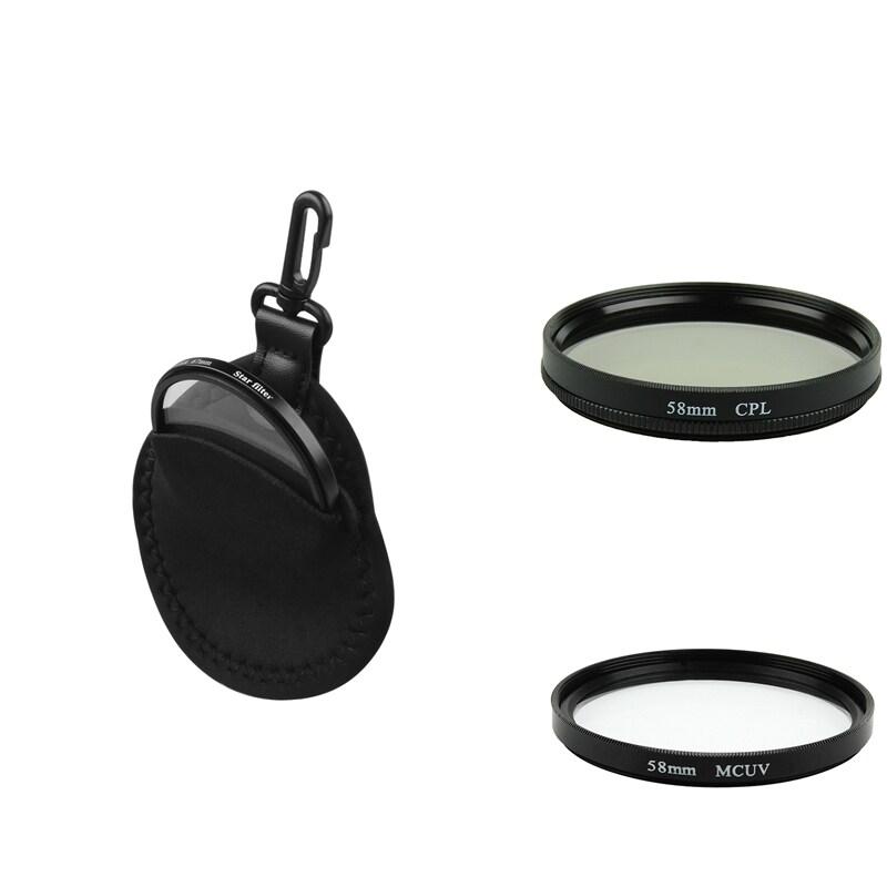 58-mm Circular Polarizing Lens Filter/ Filter Bag/ MC-UV Lens Filter