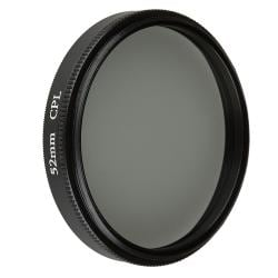 52-mm Circular Polarizing Lens Filter/ UV Lens Filter/ Filter Bag