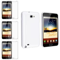 White TPU Skin Case/ Screen Protectors for Samsung Galaxy Note N7000