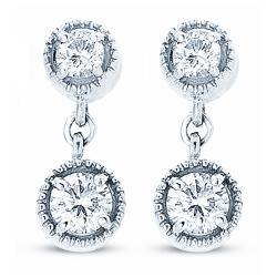 14k White Gold 3/4ct TDW Diamond Dangle Earrings (H-I, I1-I2)