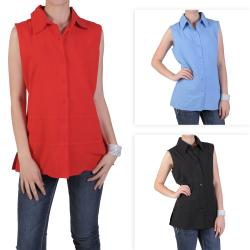 Tressa Designs Women's Pointed Collar Button-up Top