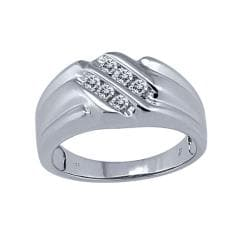 Sterling Silver Men's 1/6ct TDW Diamond Ring (I-J, I2-I3)