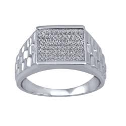 1/4 Ctw Sterling Silver Diamond Men's Ring
