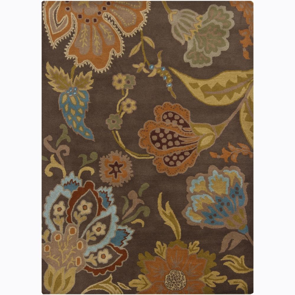 Hand-tufted Mandara Floral Wool Rug (5' x 7')